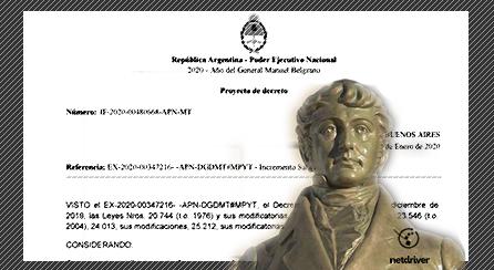 Leyenda del año 2020 en la documentación oficial