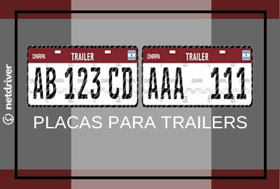 Placas de identificación para trailers