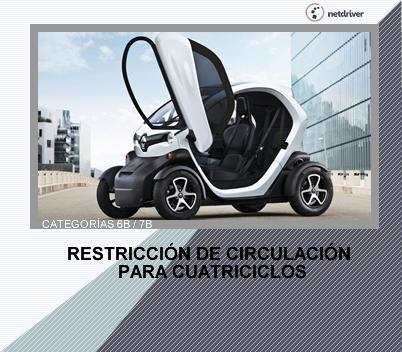 Restricción de circulación para cuatriciclos