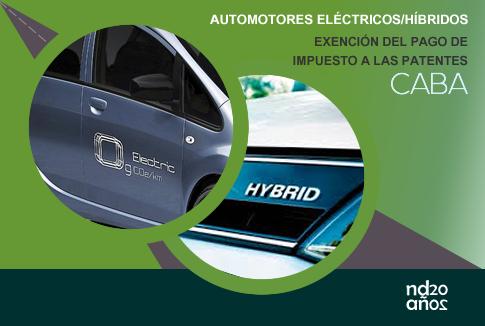 Exención del pago de patentes para automotores híbridos y/o eléctricos