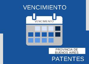 Vencimiento impuesto a las patentes. Provincia de Buenos Aires